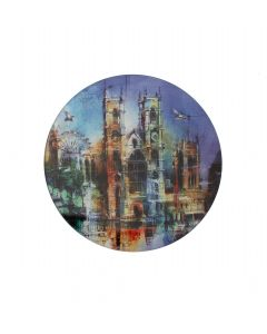 Westminster Abbey Collage Glass Coaster