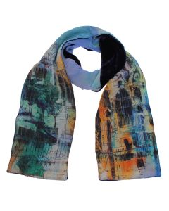 Westminster Abbey Collage Silk and Velvet Scarf
