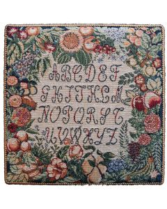 Fruits and Flowers Sampler Small Tapestry Plaque