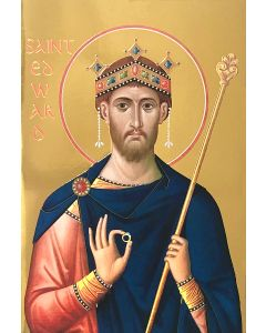 St Edward the Confessor Icon Greeting Card