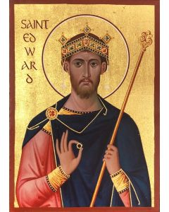 St Edward the Confessor Icon Replica