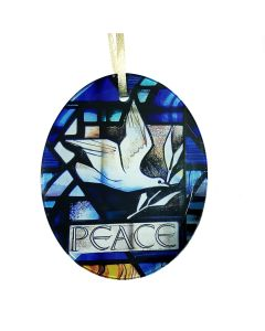 Peace Dove Stained Glass Window Decoration