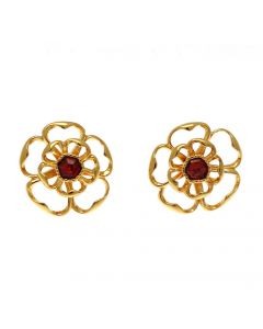 Tudor Rose Filigree Earrings