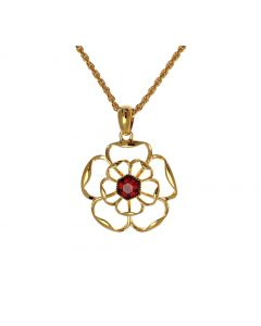 Filigree Tudor Rose Pendant