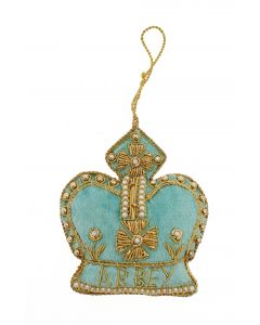 Westminster Abbey Crown Decoration-Turquoise