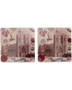 Vintage Abbey Coaster Set