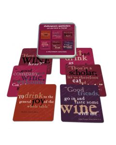 Shakespeare Eat and Drink Set of Six Coasters