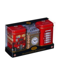 Bus, Big Ben and Phone Box Tea Tin Collection