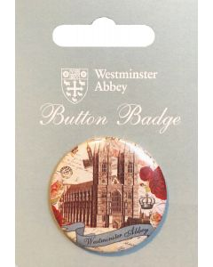 Westminster Abbey Vintage Button Badge