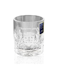 Westminster Abbey Crystal Double Tot Glass