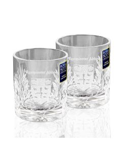 Westminster Abbey Crystal Whisky Glasses