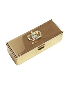 Gold Crown Lipstick Case