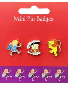 Westminster Abbey Kings & Queens Mini Heraldic Pin Badges