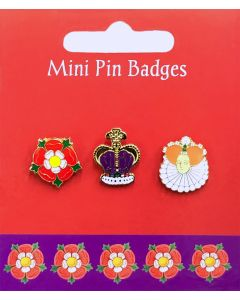 Westminster Abbey Kings & Queens Mini Royal Pin Badges