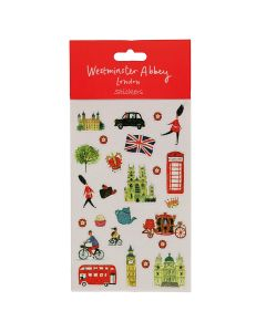 Westminster Abbey London Map Stickers