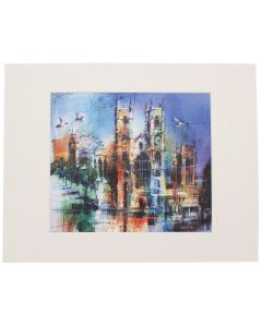 Westminster Abbey Collage Mounted Print