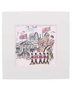Westminster Abbey Scenes of London Guards Mini Print