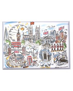 Westminster Abbey Scenes of London Magnet