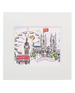 Westminster Abbey Scenes of London Mini Print