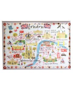 Westminster Abbey London Map Magnet