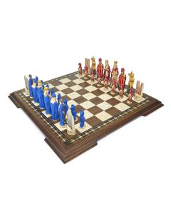 Hand Painted Chess Set and Board