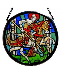 St. George and the Dragon Glass Roundlette