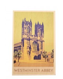 Westminster Abbey Wooden Postcard