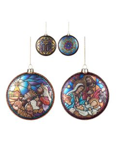 Stained Glass Window Christmas Decoration