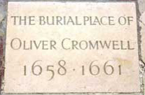 Oliver Cromwell Memorial Stone