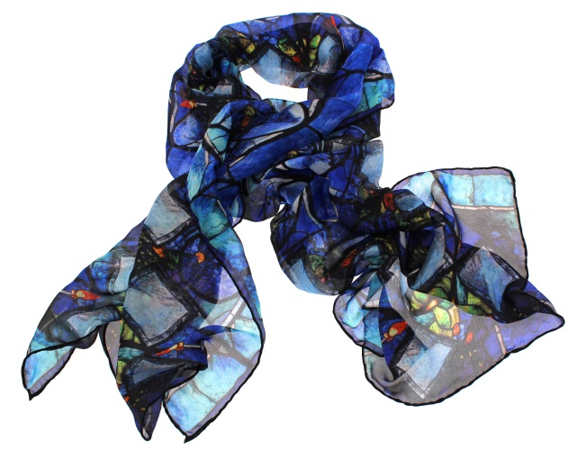Poets' Corner Stained Glass Window Scarf