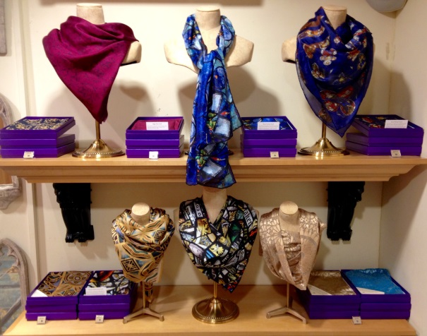 Silk Scarf Shop Display