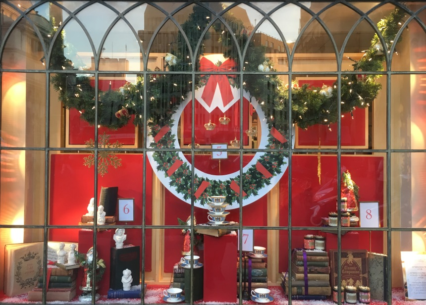 Twelve Days of Christmas Window Two