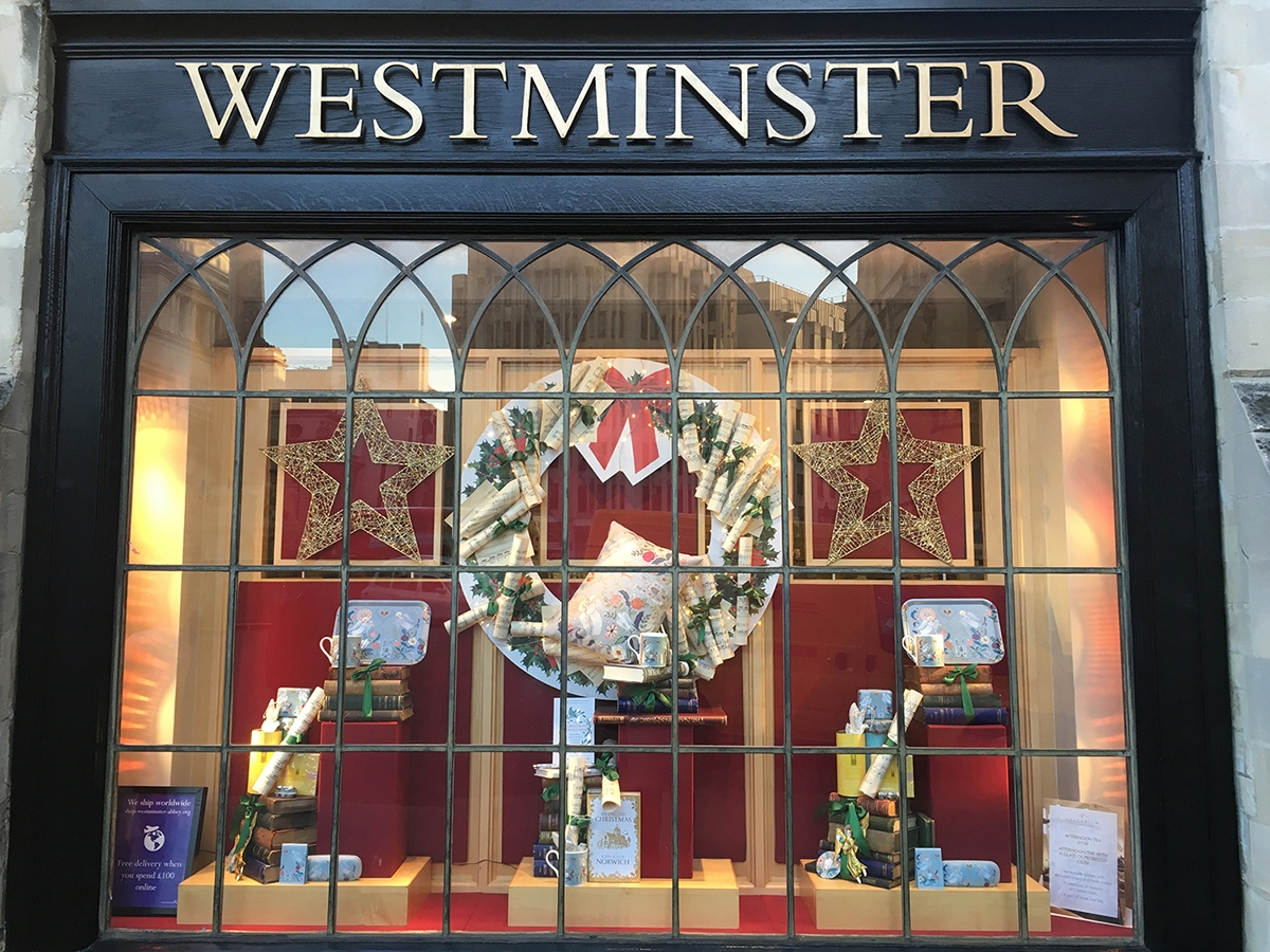 Westminster Abbey Shop Windows